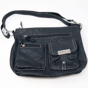 NEW ROSETTI Black Faux Leather Shoulder Bag
